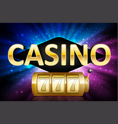 jackpot shiny gold lucky casino lotto label with vector image