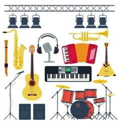 Musical Instruments Isolated vector image