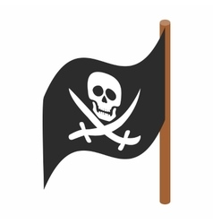 Pirate flag icon isometric 3d style vector
