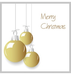 shiny gold color christmas decoration baubles vector image vector image