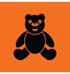 Teddy bear ico vector image