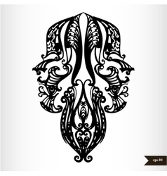 Zodiac signs black and white - Gemini vector image