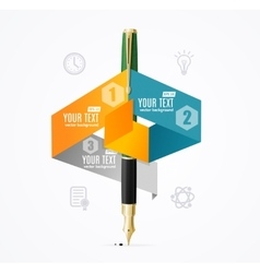 Business Infographic Concept with Fountain Pen vector image vector image