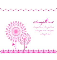 cabstract pink Support Ribbon background vector image vector image