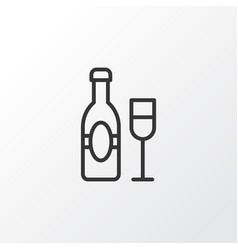 champagne icon symbol premium quality isolated vector image