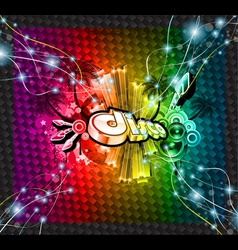 dj flyer background vector image
