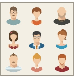 People icons peolple avatars flat style vector image