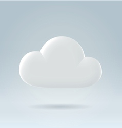 white cloud ove blue vector image vector image