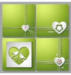Backgrounds with love heart and flower vector image vector image