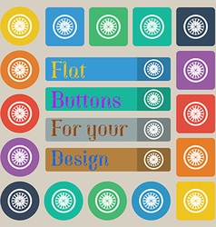 Casino roulette wheel icon sign set of twenty vector