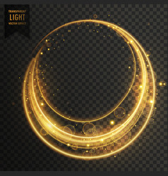 circular transparent light effect with sparkles vector image