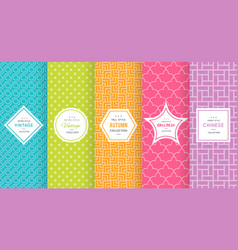 cute bright seamless pattern background vector image vector image
