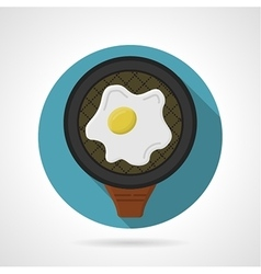 Flat color icon for fried egg vector image vector image