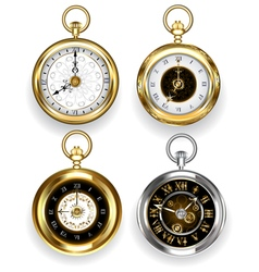 Set of Round Clock vector image