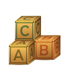 wooden alphabet letter boxes vector image vector image