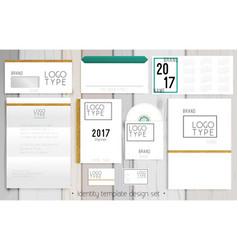 corporate identity template design set vector image
