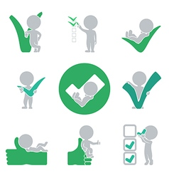 Flat people success vector image vector image