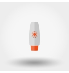 Sunscreen cream icon Flat vector image