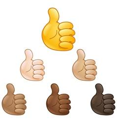 thumbs up hand emoji vector image vector image