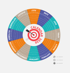 2020 calendar templatecalendar 2020 set of 12 vector