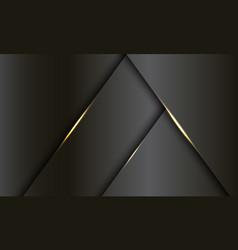 abstract dark grey metallic gold light luxury vector image