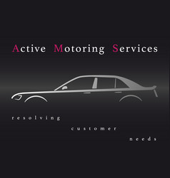 Active motoring services vector