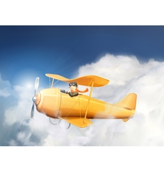 Aircraft in the clouds vector image