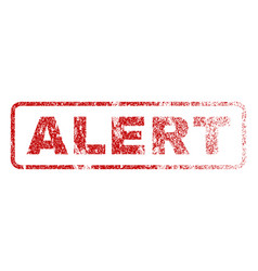 alert rubber stamp vector image