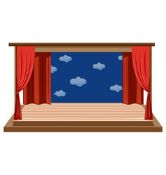 An isolated empty stage vector