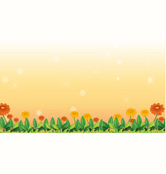 Background design template with flowers vector
