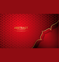 Background with bright red color flower lines 3d vector