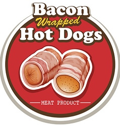 Bacon and sausage vector image
