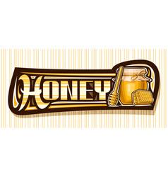 Banner for honey vector