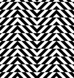 Black and white alternating chevron with vector