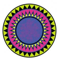 bright circular ornament vector image vector image