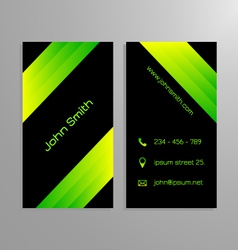 Business card template - black and gren vector image