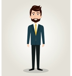 cartoon male standing human resources design icon vector image