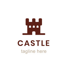 castle flat logo design template vector image