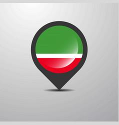 Chechen republic map pin vector