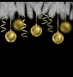 christmas and new year seamless border vector image