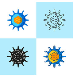 cmv virus icon set in flat and line style vector image