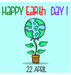 collection happy earth day style vector image