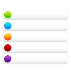 Colorful button templates with blank space vector