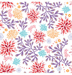colorful underwater seaweed seamless pattern vector image