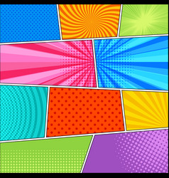 Comic book bright composition vector