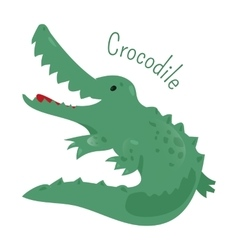 Crocodile isolated Sticker for kids Child fun vector image