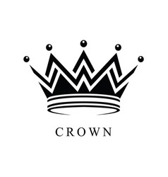 Crown logo abstract design template vector