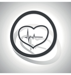 Curved cardiology sign icon vector image