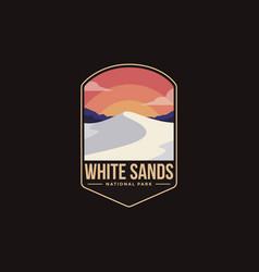 Emblem patch logo white sands national park vector
