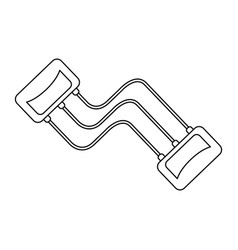 fitness resistance band black and white vector image